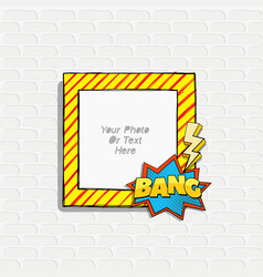 scrapboo template frame vector image