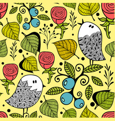 Seamless pattern with autumn style nature vector