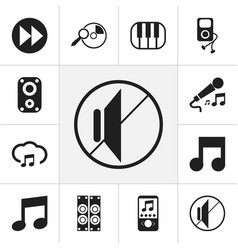 Set of 12 editable music icons includes symbols vector
