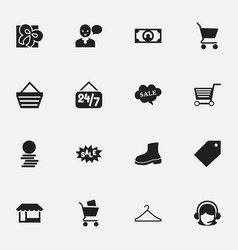 Set of 16 editable trade icons includes symbols vector
