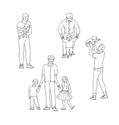 Set of fathers with their vector