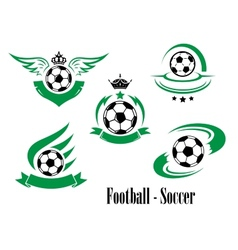 Set of football or soccer emblems vector