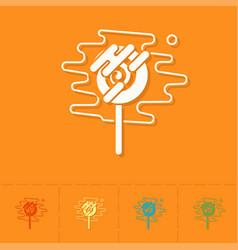 Spiral lollipop modern flat icon vector