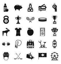 sports uniform icons set simple style vector image