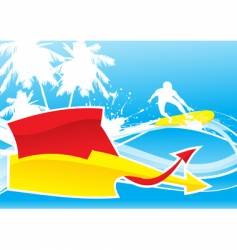 summer wave vector image