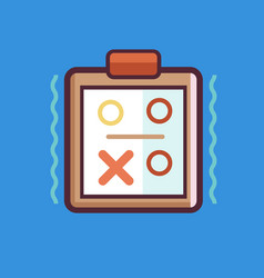 tactics icon set of great flat icons use for vector image
