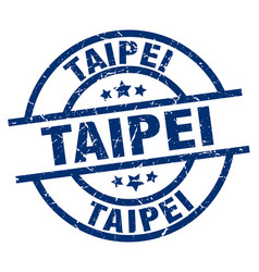 Taipei blue round grunge stamp vector
