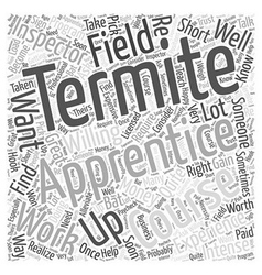 Termite Apprentice Word Cloud Concept vector image