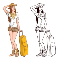 Tourist Woman vector image