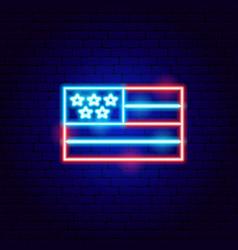 usa flag neon sign vector image