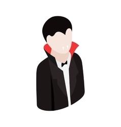 Vampire costume isometric 3d icon vector image