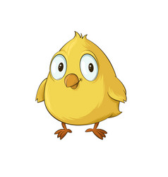 yellow chick cartoon vector image