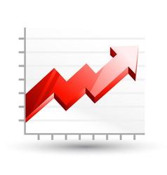 arrow graph diagram vector image vector image
