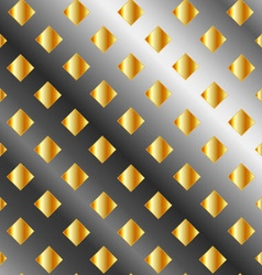Background with metallic squares vector image vector image