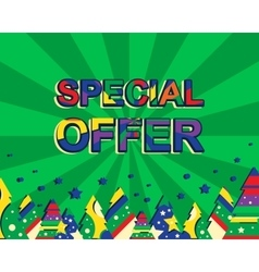 Big winter sale poster with SPECIAL OFFER SALE vector image