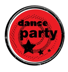 dance party stamp vector image vector image