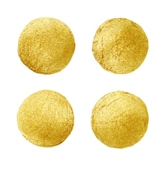 Golden circle stain Abstract hand painted gold vector image