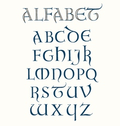 Lombardic Alphabet vector image vector image
