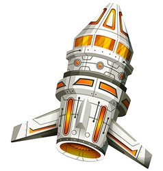 Spaceship with wings on white background vector image vector image