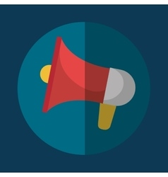 Bullhorn megaphone icon graphic vector image