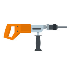 electric drill perforator icon isolated vector image vector image