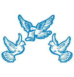 Flying dove vector