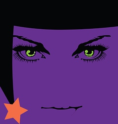 Halloween girl icon vector image vector image