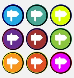 Information road icon sign nine multi-colored vector