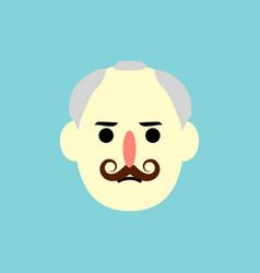 man face - flat design - vector image