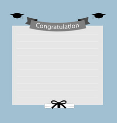 Congratulation graduation banner vector image vector image