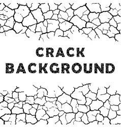 cracks background with text vector image vector image
