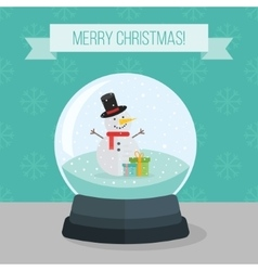 Flat of christmas snow ball vector