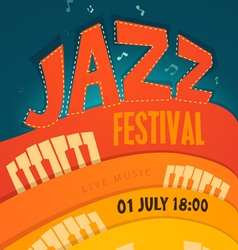 JAZZ concert music background vector image