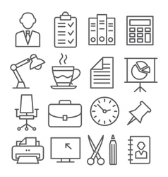 Office Line Icons vector image vector image