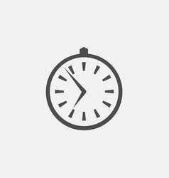 Business symbol of clock web line vector