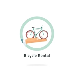 Bycicle rent badge rental icon logo vector image vector image