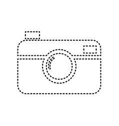 digital photo camera sign black dashed vector image