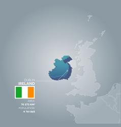 ireland information map vector image vector image