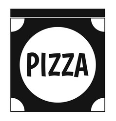 pizza box cover icon simple style vector image