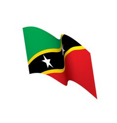 saint kitts and nevis flag vector image