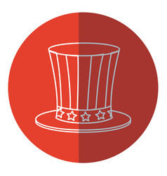 Top hat celebration party national decoration red vector