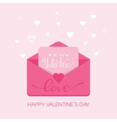Valentine s day Receiving or sending vector image