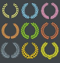 wreaths set vector image