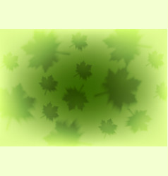abstract green leaves shiny summer background vector image
