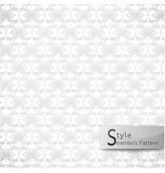 abstract seamless pattern floral mesh loop white vector image vector image