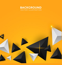 abstract white yellow and black triangle vector image