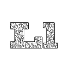 Anti coloring book alphabet the letter L vector image