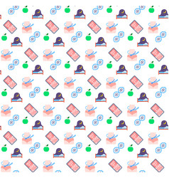 apple fruit healthy sleep bed measuring waist vector image
