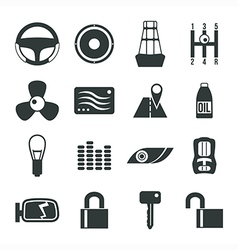 Auto accessories icons set vector image