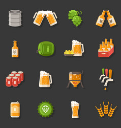 beer flat icons oktoberfest german vector image
